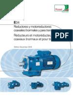 Catalogo Reductor Coaxial Rossi E04