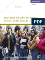 Chicago Consortium - Potholes on the Road to College
