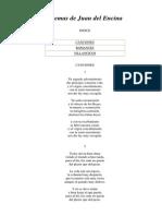 Poemas de Juan Del Encina