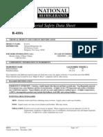 r410A refrigerant msds