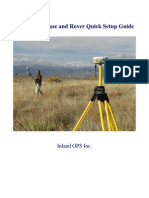 Trimble R8 Base and Rover Quick Setup Guide