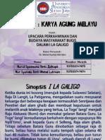 Upacara Perkahwinan dan Budaya Masyarakat Bugis dalam I La Galigo