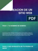 Creacion de Un Sitio Web