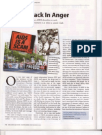 Denying AIDS reviewed in Miller McCune Research Magazine 2009