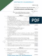 Mechanical Measurement & Metrology Jan 2014