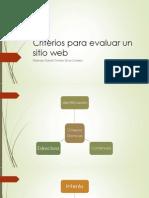 Criterios Para Evaluar Un Sitio Web
