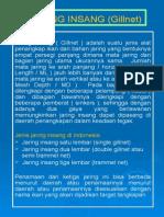 Jaring Insang (Gillnet)