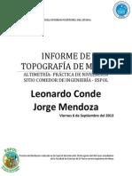 Informe de Altimetria Topografia