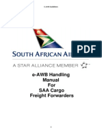 E-AWB Handling Manual for SAA Cargo Freight Forwarders