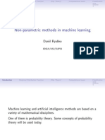 Non-Parametric Methods in Machine Learning