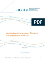 australian curriculum the arts 2 july 2013