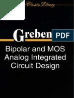 Bipolar and MOS Analog Integrated Circuit Design 2003 -Grebene