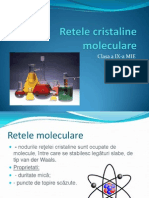 Retele cristaline moleculare