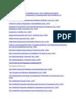 List of Labour Laws