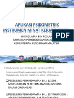 Psikometrik Inventori Minat Kerjaya Sidek (IMKS)