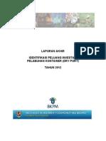 Identifikasi Peluang Investasi Pelabuhan Kontainer (Dry Port) Tahun 2012