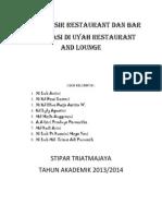 Tugas Kasir Restaurant Dan Bar