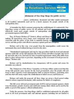 april12.2014 bSolon proposes establishment of One-Stop-Shops for public service