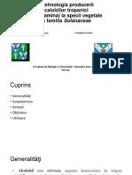 Biotehnologia Producerii Alcaloizilor Tropanici (Scopolamina) La Specii Vegetale Din Familia Solanaceae