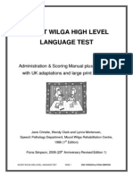 Mount Wilga High Level Language Test (revised) (2006)