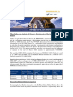 MinesOnline.com Analysis of Glencore Xstrata's Sale of the Las Bambas Copper Project