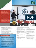 Dale Carnegie Flyer High Impact Presentation
