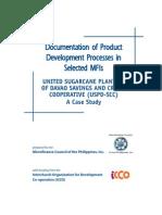Documentation of Product Devt USPD