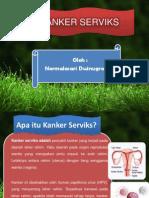 """Presentasi """"Kanker Serviks"""" Promosi Kesehatan"""
