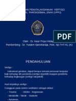 Diagnosis Dan Penatalaksanaan Vertigo Posisional Paroksismal Jinak (
