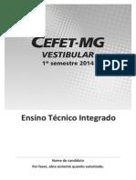 Prova Integrado 2014 1