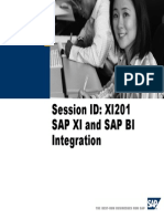 SAP XI and SAP BI Integration