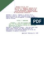 Family Code, Amendment (RA 8533)