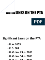Guidelines on the Pta