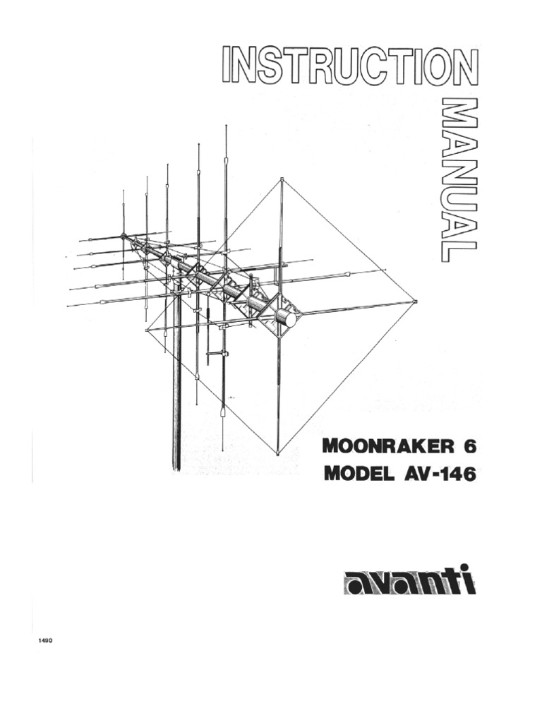 moonraker 6 CB Antenna user manual