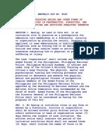 Anti Hazing Law (RA 8049)