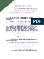 Anti Rape Law Of1997 (RA 8353)