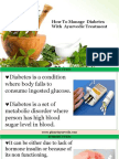 Cure Diabetes With Herbal Natural Ayurvedic Treatment