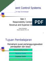 Bab 3 Responsibility Centers (Revenue and Expense Center)