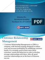 Analysis of Customer Relationship Management in HDFC BANK