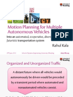 Motion Planning for Multiple Autonomous Vehicles, PhD Thesis Defense Presentation