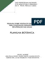 Paisagismo - planilha botânica final