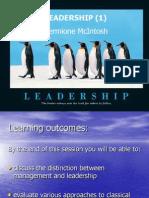 Week 9B Leadership Part1