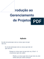 gerenciamento de projetos (Introdução)