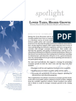 Spotlight 452 Lower Taxes, Higher Growth
