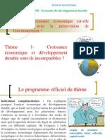 thème 1 - Croissance et développement durable