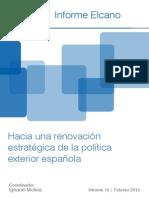 Informe Sobre España y su posición en el mundo Marzo 2014