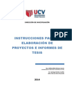 Instrucciones Para Elaborar Proyecto y Tesis.2014