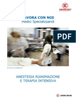 LAVORA CON NOI Medici Specializzandi - Anestesia Rianimazione e Terapia Intensiva (AFG/SL)