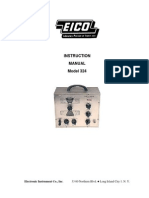 EICO 324 Signal Generator User Manual