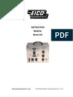EICO 324 Signal Generator User Manual